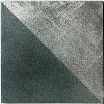 Blue Gray Triangles Solid Metal Tile