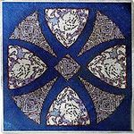 Cobalt Camilla Cross Solid Metal Accent Tile