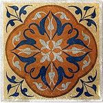 Lily Amber Blue Solid Metal Accent Tile