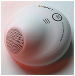 The KidSmart Vocal Smoke Detector Uses the Only Sound Proven to Awaken Sleeping Children During a Fire—Their Parents' Own Voices