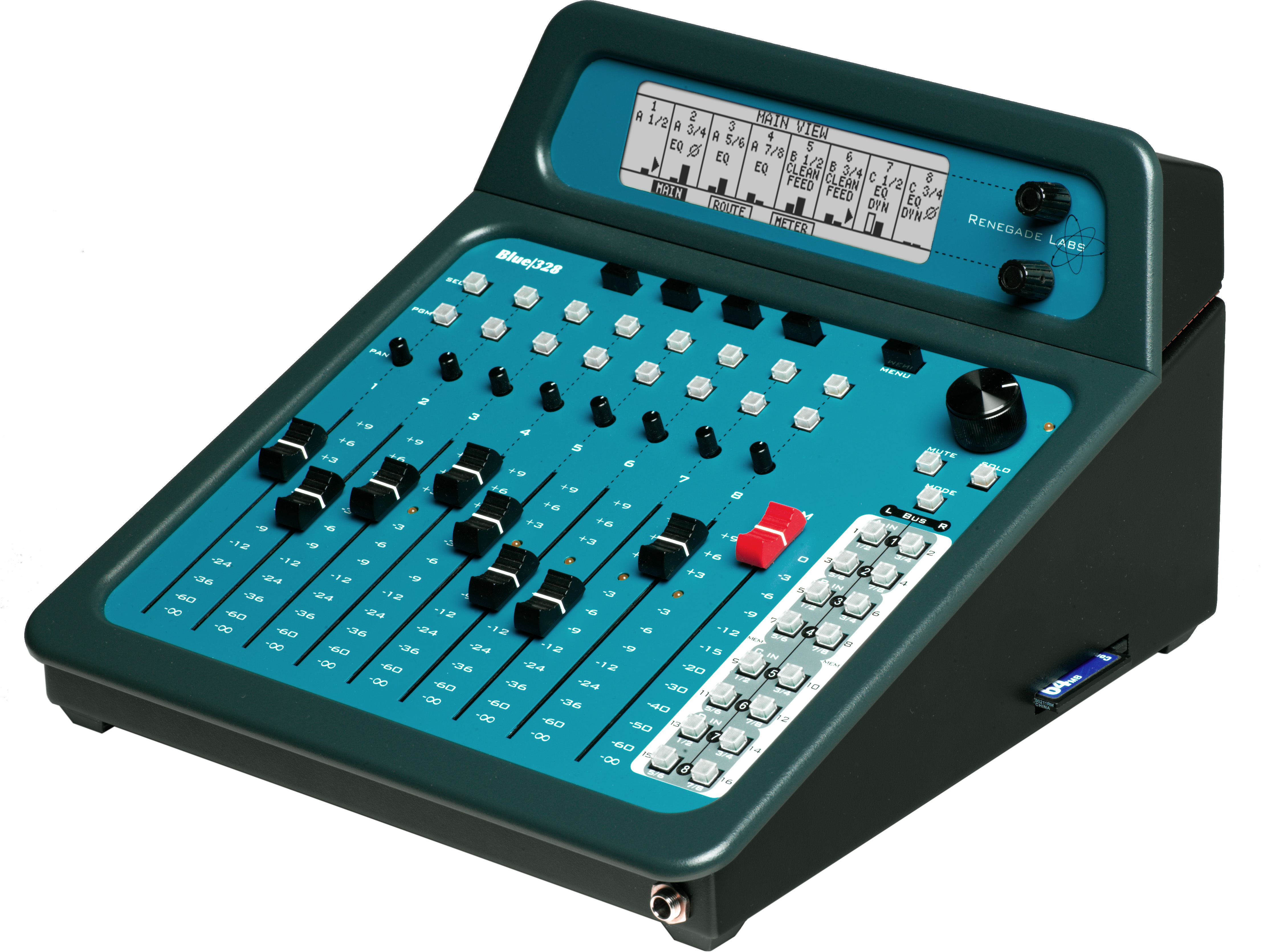 renegade labs unleashes blue 328 digital audio mixer. Black Bedroom Furniture Sets. Home Design Ideas