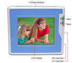 New eFrame serves triple-duty as digital photo album, MP3 music player and video player.