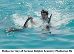 On Friday March 11th, 2005, twelve (12) year old jazz prodigy Matt Savage does a dolphin dorsal ride with dolphins of Curacao Dolphin Academy