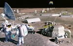Lunar Federation Landing on the Moon