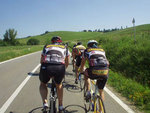 Riding a paceline in Tuscany