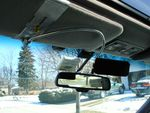 The Light Visor positioned to Block Focal Sunlight From the Right