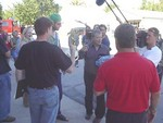 William Shatner getting to know the people of Riverside, Iowa