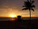 From Sunrise on Hollywood Beach at Villa Sinclair Beach Suites & Spa