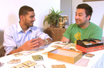 Sohail Ahmed (left) and Shabib Sheikh (right) play the latest game from