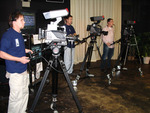 """A three camera shoot on the set of """"Book Millionaire"""" reality TV show."""
