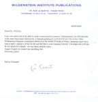 Wildenstein's response Sept. 24, 2004