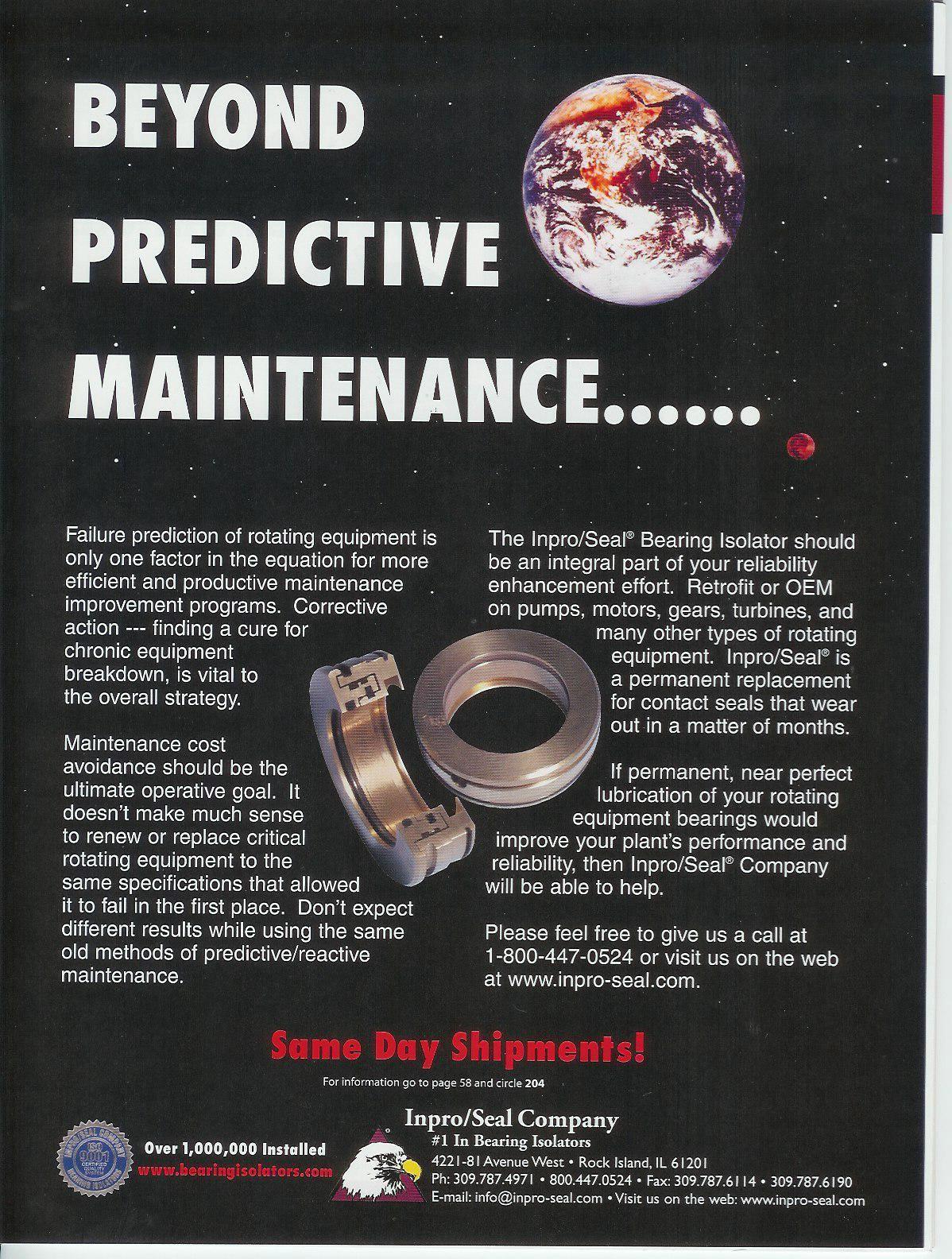 Beyond Predictive Maintenance