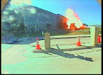 """Explosion"" out side of the Pentagon wall, September 11, 2001"