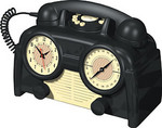 1930 US Basic Bakelite Clock Radio Phone