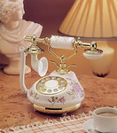 Antique Replica Vintage French Porcelain Phone