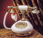 Antique Replica Vintage French Porcelain Phone - White