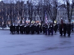 Latvian Military Band with American Marine guard