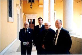 Former presidents meet Cardinal Ratzinger