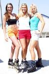 Ashley, Carissa & Heather rollerblading on the Broadwalk Hollywood beach Florida