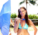 Ashley competing for Miss Florida USA title in Hollywood Beach Florida