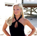 Kimberly competing for Miss Florida USA Hollywood beach Florida