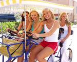 Miss Florida USA having fun on the Hollywood beach Broadwalk