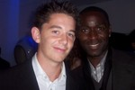 Curtis Allen with Andy Cole, Former England Player