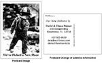 Change of address postcard example