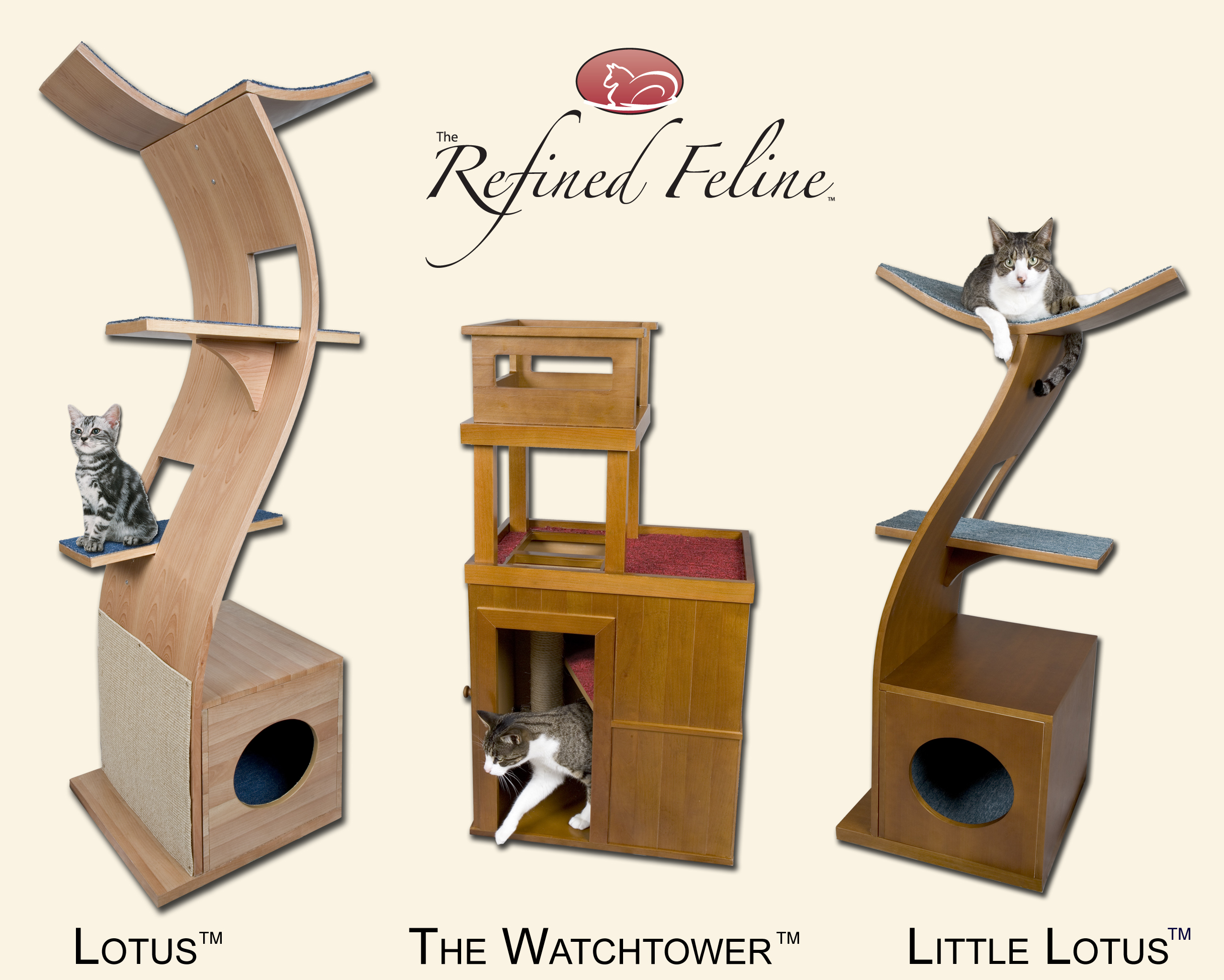 cat furniture designs no longer eyesores - the refined feline cat furniture product lineadditional images availableupon request copyright  the refined feline wwwtherefinedfelinecom