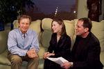 Michael York, on the set with Host Agata Gotova and Producer Kenneth Eade