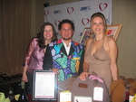 Julie Kenney, Founder of Jewels and Pinstripes, Pop Artist Romero Britto and Honoree Dana Reeve