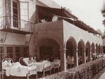 Patients from Barlow Respiratory Hospital's past as a tuberculosis sanatorium were treated with sunshine and fresh air.