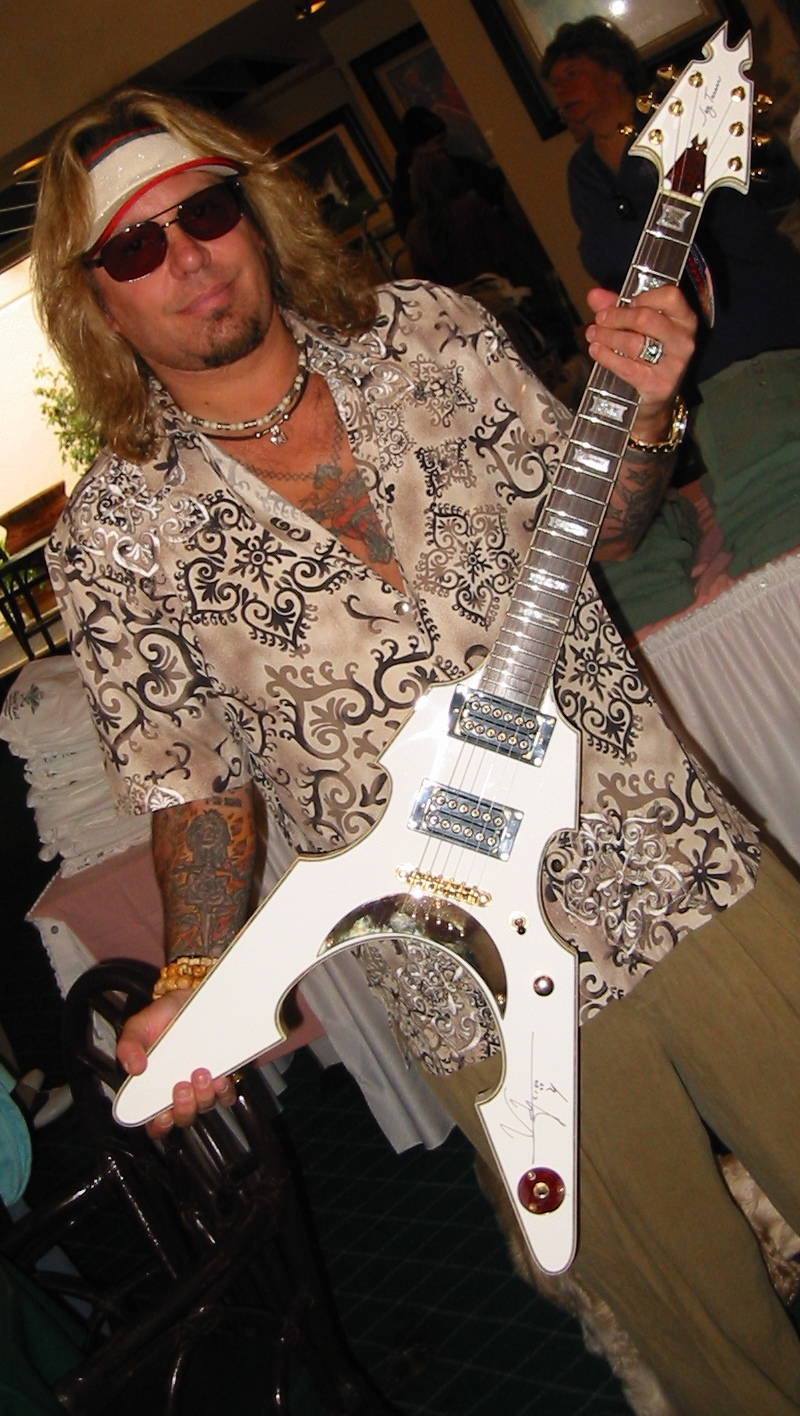 Vince Neil Autographed Jay Turser Guitar Brings In 1400