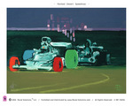 """Painted Desert Speedway"" Original art print by Lowell S.V. Devin"