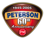 Peterson Manufacturing 60th Anniversary Logo