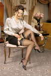 Cassandra Sheer Heel & Toe Stockings