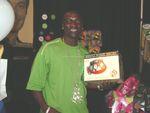 Akon, Solo Recording Artist, with 1930 US Basic Bakelite Clock Radio Phone