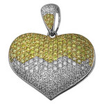 Fancy Yellow Diamond Heart Pendant