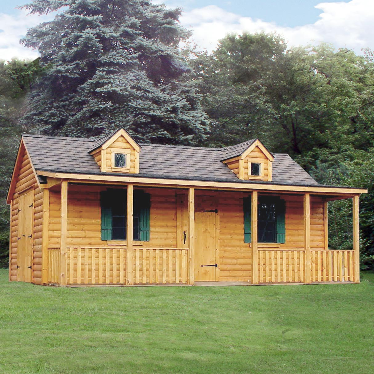 Log Cabins Now Delivered Fully Assembled