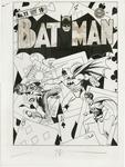 Batman #11 original cover art from 1942.