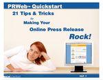 PRWebquickstart <b><a href=&quot;http://www.prwebquickstart.com&quot; title=&quot;PRWebQuickstart eBook&quot;> Free eBook</a></b>