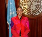 Christine Schiwietz at the UN in New York