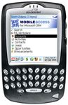 MobileAccess Screen Shot on BlackBerry 72XX Handheld Device