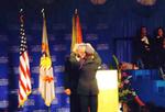 Thomas Stankovich receiving his medal