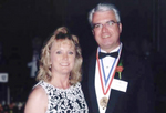 Medalist Thomas Stankovich with his wife