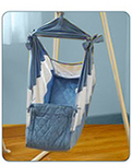 The Amby Baby Motion Hammock - helping babies across America and around the world enjoy a peaceful night's rest. While many babies sleep safely and soundly cuddled up with mom and dad in bed or sleeping in a crib, some babies have special nighttime needs that require a more creative approach. The Amby meets these needs.