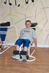 11 year old David on Kids PE Machine