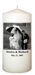 Wedding Photo Candle