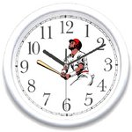 WatchBuddy® Clock - Baseball Player - It's a Home Run!