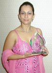 Mrs Lopa Patel with her Asian Jewel Award 2005